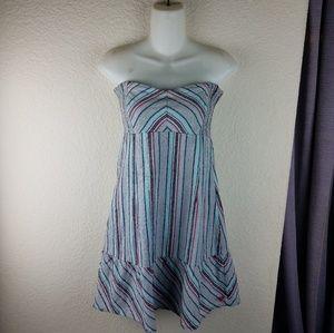 Roxy Strappless Boho Dress Size M
